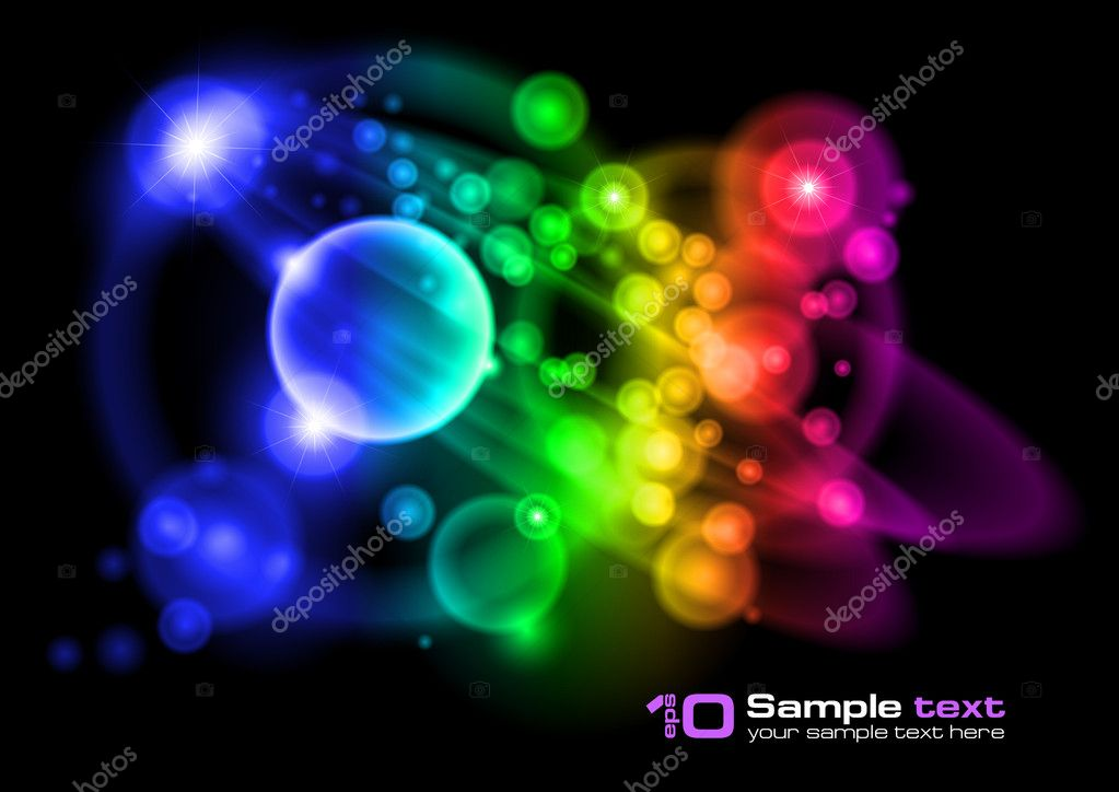 Abstract vector glowing background. For your design. Bubbles. — Stock Vector #3685573