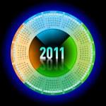 Neon calendar 2011 — Stock Vector #3862114