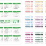 Calendar 2011 — Stock Vector #3862140