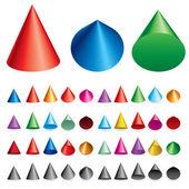 Cones — Stock Vector