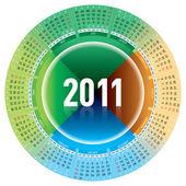 カレンダー 2011 年 — ストックベクタ