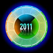 Neon kalendář 2011 — Stock vektor