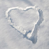 Snow heart — Stock fotografie