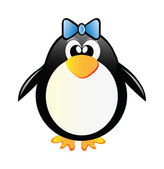 Penguin girl — Stock Photo