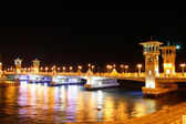 The bridge through the sea passage — Stock Photo
