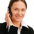 Smiling businesswoman talking on mobile — Stock Photo #3132022
