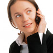 Young business woman talking on mobile — Stock Photo