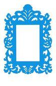 Quadro de azul, isolar, em branco por sua cópia — Foto Stock