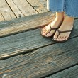 On a boardwalk — Stock Photo