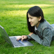 Laptop girl — Stock Photo #3721393