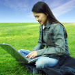 Stock Photo: Laptop girl