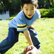 Playing football — Foto de Stock