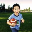 Football boy — Stock Photo