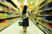 Grocery shopping — Stock Photo