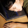 Asleep at work - Stock Photo
