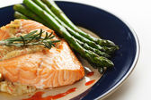 Stuffed salmon — Stock Photo
