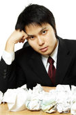 Stressed businessman — Stock Photo