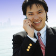 Stock Photo: Businessmon phone