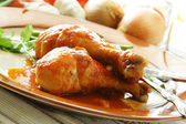 Baked chicken — Stock Photo