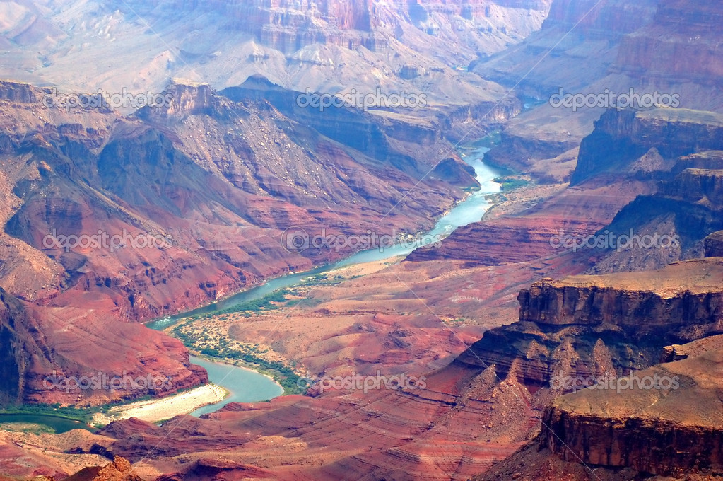 Grand canyon and colorado river — Stok fotoğraf #3179916