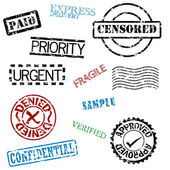 Rubber stamps — Stock Vector