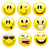 A set of smileys — Vector de stock
