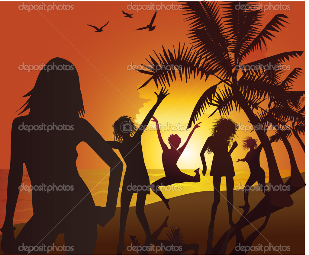 Beach party — Stock Vector #3221298
