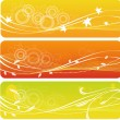 Stock Vector: Autumn banners