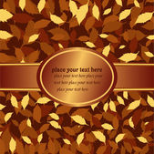 Vector illustration- banner with autumn leaves — Stock Vector