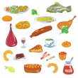 Food vector set — Stock Vector