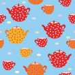 Seamless tepattern with teapot — Stock Vector #2786583