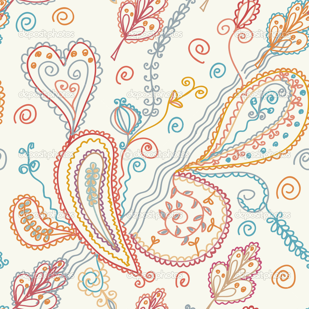 Paisley seamless ornate pattern — Stock Vector #2838581