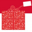 Royalty-Free Stock Vector Image: Gift box with red and white  design