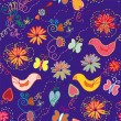 Royalty-Free Stock Vector Image: Cartoon ornate floral seamless pattern