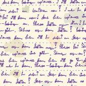 Oude handschrift naadloze patroon — Stockvector
