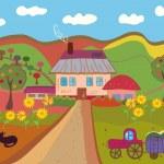 Cartoon farm — Stock Vector