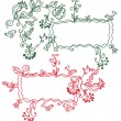 Royalty-Free Stock Vectorielle: Floral ornate frames