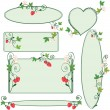 Royalty-Free Stock Vectorielle: Floral ornate frames with strawberries