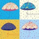 Umbrellas set — Stock Vector