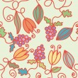 Royalty-Free Stock Vector Image: Seamless pattern with grape