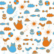 Royalty-Free Stock Vector Image: Cute childish pattern