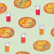 Royalty-Free Stock Vector Image: Pizza seamless