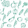 Stock vektor: Vegetables seamless pattern