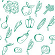 图库矢量图片: Vegetables seamless pattern