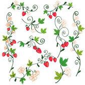 Strawberry background design elements — Stock Vector