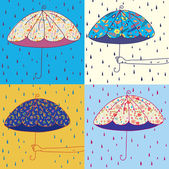 Umbrellas set — Stockvektor