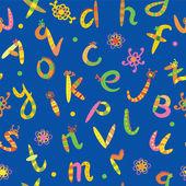 Alphabet seamless funny pattern — Stock Vector