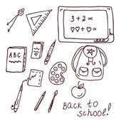 Doodle de escola — Vetor de Stock