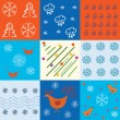 Royalty-Free Stock Imagen vectorial: Set of winter holidays patterns