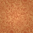 Royalty-Free Stock Vector Image: Brown floral seamless pattern